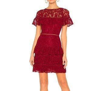 BB Dakota Tiered Lace Mini Dress